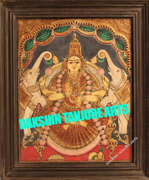 Gaja Lakshmi  in Antique Finish