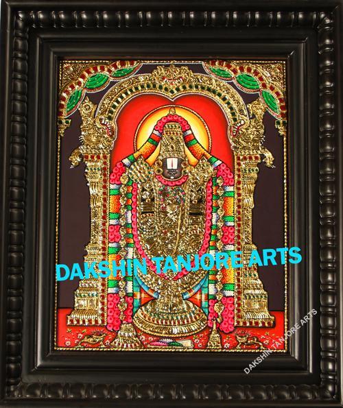 Balaji Embossed with Lakshmi Painting