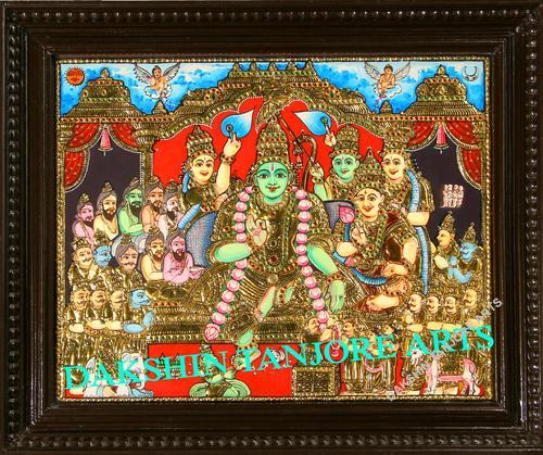 Sri Rama Pattabishekam Painting