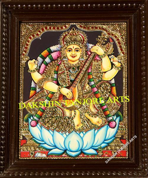 Goddess Saraswathi Painting