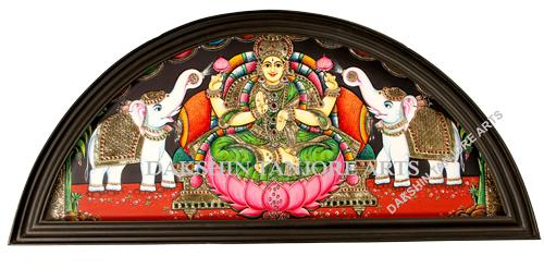 Gaja Lakshmi in Arch Painting