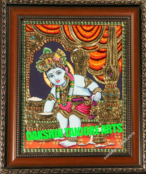 BUTTER BABY Krishna Painting