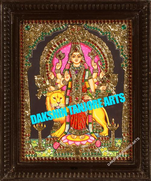 Durga Devi with four hands