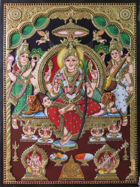 Goddess Sri Lalitha Tripura Sundari Painting