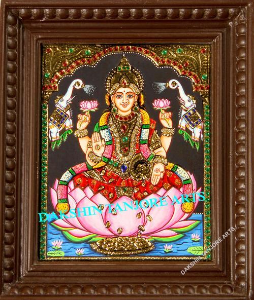Gajalakshmi with Red Saree