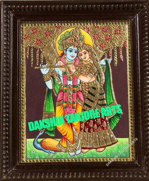 Sri Radha krishna with Peacock