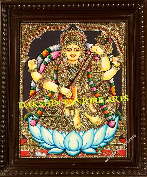 Goddess Saraswathi New Painting